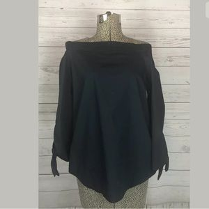 Free people size xs off shoulder black top
